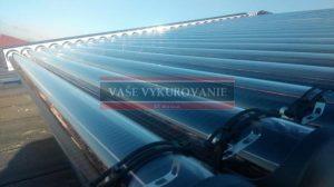 Horizontálne umiesnenie slnečných kolektorov