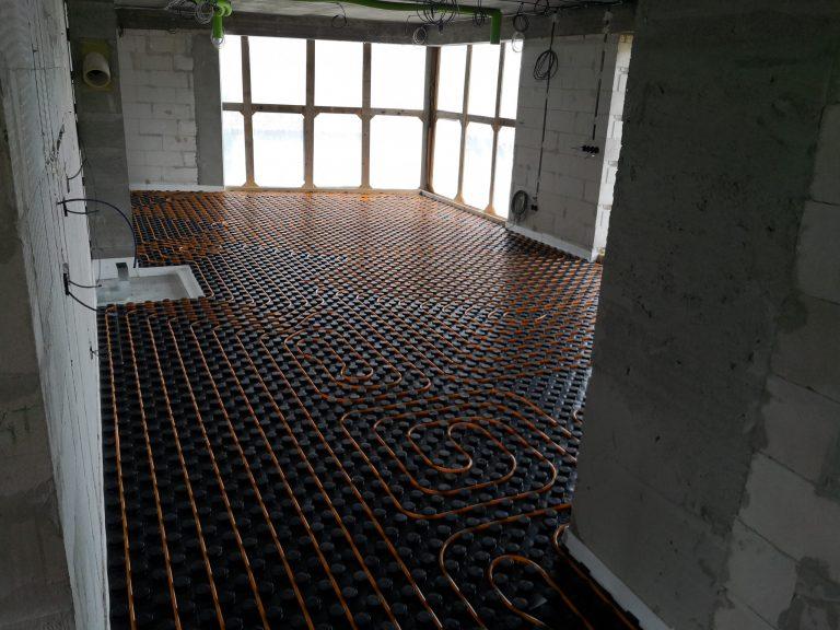 Podlahové vykurovanie Gabotherm v obývačke