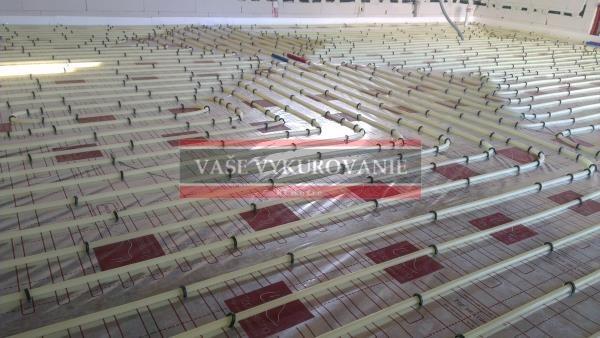 Podlahové vykurovanie - Tacker systém