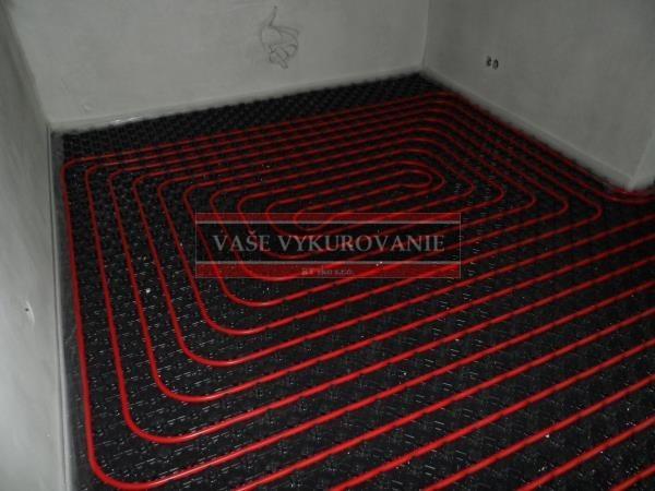 Podlahové vykurovanie zádverie