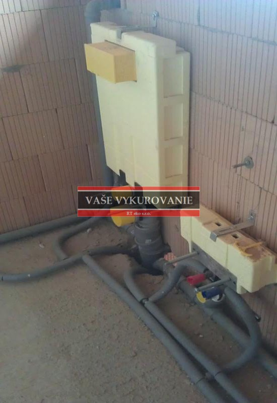Predstenová splachovacia technika Viega určená pre obmurovanie - WC a bi...