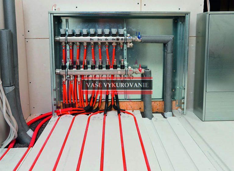 Rekonštrukcia - rozdeľovač podlahového vykuroania suchý systém