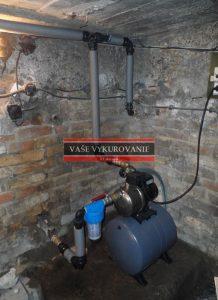 Rekonštrukcie rozvodov vody a kanalizácie, domáca vodárnička