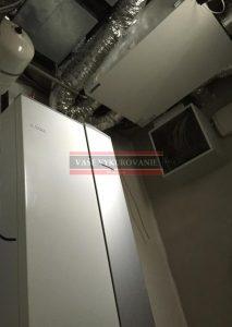 Rekuperácia vzduchu Atrea pod stropom RD Limbach