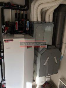 Rekuperácia vzduchu Zehnder s tepelným čerpadlom NIBE