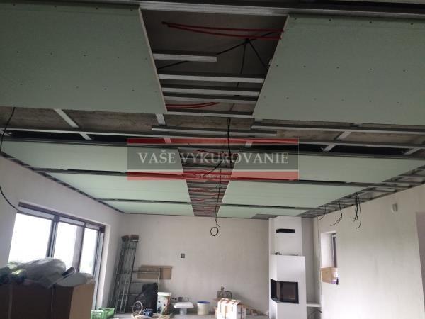 Suchý systém stropného chladenia RD Malacky