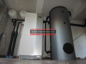 Tepelné čerpadlo NIBE zem-voda a zásobník na TÚV