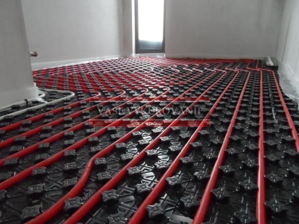 Vykurovanie kúpeľne podlahou