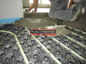 betonáž poterov cementovým gletovaným poterom